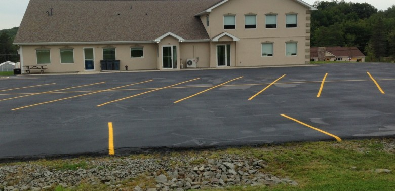 Finished Parking lot Sealcoating and Striping